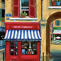 Little French Book Store Print by Marilyn Dunlap