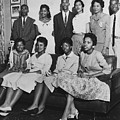 Little Rock Nine And Daisy Bates Posed Print by Everett