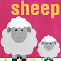 Little Sheep Print by Linda Woods