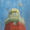 Looking Up Portland Observatory Print by Dominic White