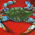 Louisiana Blue on Red Print by Dianne Parks