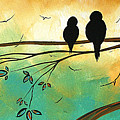 Love Birds by MADART Print by Megan Duncanson