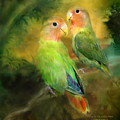 Love In The Golden Mist Poster by Carol Cavalaris