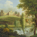 Ludlow Castle with Dinham Weir Print by Samuel Scott