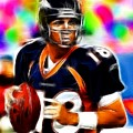 Magical Peyton Manning Borncos Poster by Paul Van Scott
