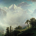 Majesty of the Mountains Poster by Albert Bierstadt