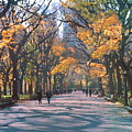 Mall Central Park New York City Print by George Zucconi
