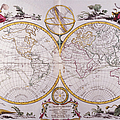 Map Of The World Print by Fototeca Storica Nazionale