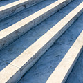 Marble Steps, Jefferson Memorial, Washington DC, USA, North America Poster by Paul Edmondson