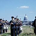 Marching Band at Capitol Print by Marilyn Hunt