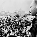 Martin Luther King Addresses Selma Poster by Everett
