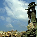 Martyr's statues in Beirut Print by Sami Sarkis