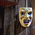 Mask on barn door Poster by Garry Gay