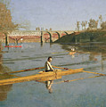 Max Schmitt in a Single Scull Poster by Thomas Cowperthwait Eakins