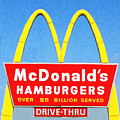 McDonalds Hamburgers . Over 99 Billion Served Print by Wingsdomain Art and Photography