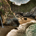 McWay Falls Hwy 1 California Poster by Connie Cooper-Edwards