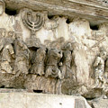 Menorah on the Arch in Roma Print by Mindy Newman
