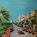 Miami for Daisy Print by Dyanne Parker