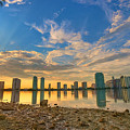 Miami Sunset Print by William Wetmore