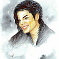 Michael Jackson - Smile Poster by Nicole Wang