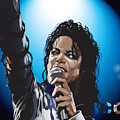 Michael Jackson Icon Poster by Mike  Haslam