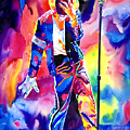 Michael Jackson Sparkle Poster by David Lloyd Glover