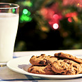 Milk and cookies for Santa Print by Elena Elisseeva