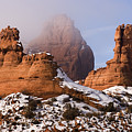 Mist Rising in Arches National Park Poster by Utah Images
