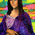 Montage Mona Lisa Poster by Laura  Grisham