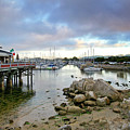 Monterey Harbor - Old Fishermans Wharf - California Poster by Brendan Reals