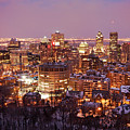 Montreal city lights Print by Pierre Leclerc Photography