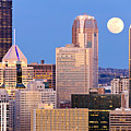 Moon over Pittsburgh 2 Print by Emmanuel Panagiotakis