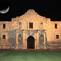 Moon over the Alamo Poster by Carol Groenen