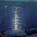 Moonlight on the River Poster by Lowell Birge Harrison