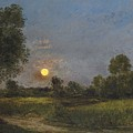 Moonrise by Charles Francois Daubigny