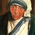 MOTHER TERESA  Print by CAROLE SPANDAU