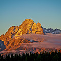 Mount Moran bathed in Sun Print by Brent Parks
