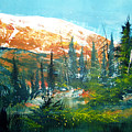 mountain light Print by Robert Carver