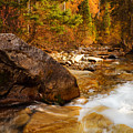 Mountain Stream in Autumn Print by Utah Images