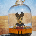 Mouse In A Bottle  Print by Jerry Cordeiro