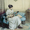 Musical interlude Print by William Kay Blacklock