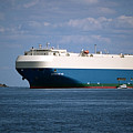 MV Marvelous Ace inbound Port of Baltimore Print by Wayne Higgs