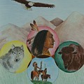 Native American Circle of Life Poster by Jessica Hallberg