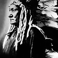 Native American Sioux Chief Sitting Poster by Everett