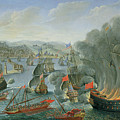 Naval Battle with the Spanish Fleet Poster by Pierre Puget