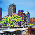 Neon Tampa Print by Carol Groenen