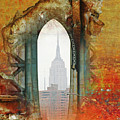 New York Abstract Print Print by AdSpice Studios