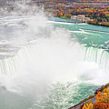 Niagara Falls Autumn Print by Charline Xia