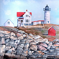 Nubble Lighthouse - Maine Poster by Arline Wagner