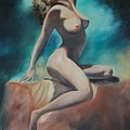 nude Poster by Margaret Fortunato